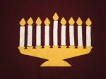 how to make a felt board Hanukkah menorah